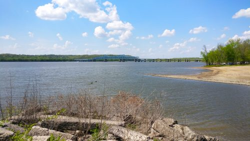 Illinois River in East Peoria