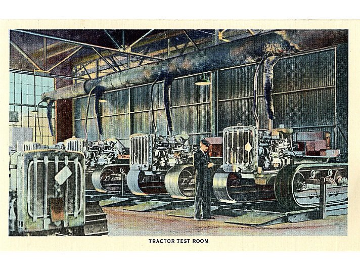 Old Postacard of a Caterpillar Engine Room