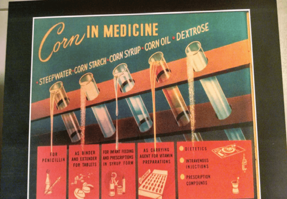 Peoria Vintage Corn in Medicine Advertisement