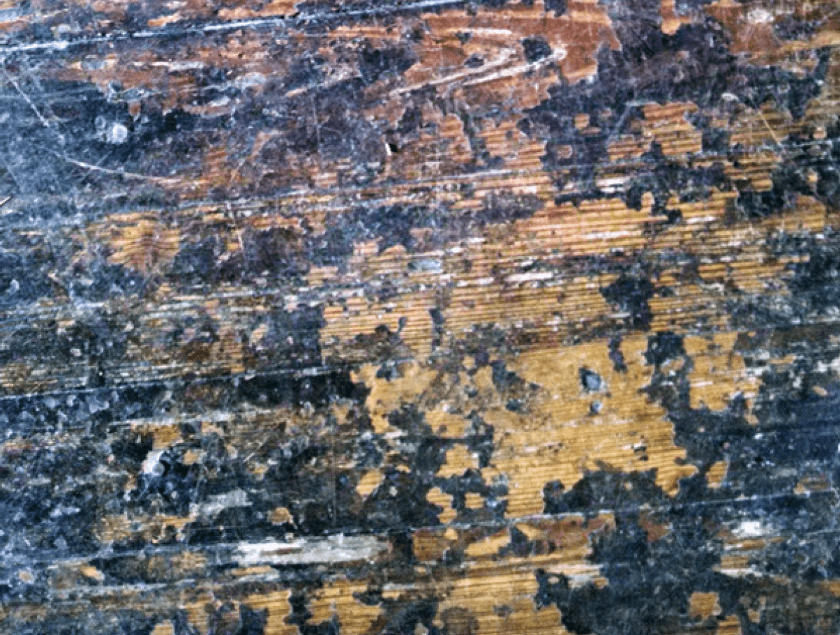 Wooden Floor with chipped paint