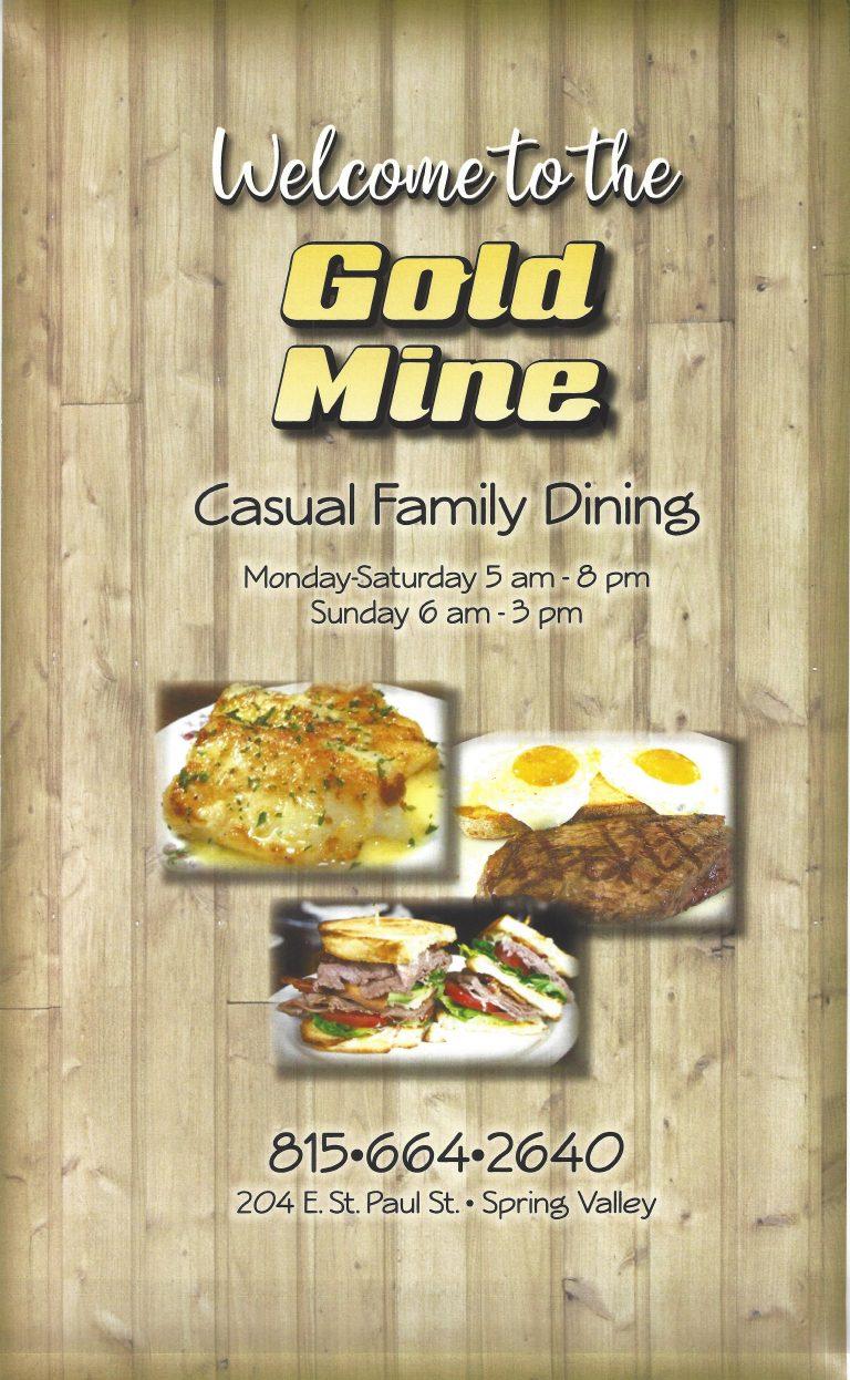 Gold Mine Menu cover 768x1246